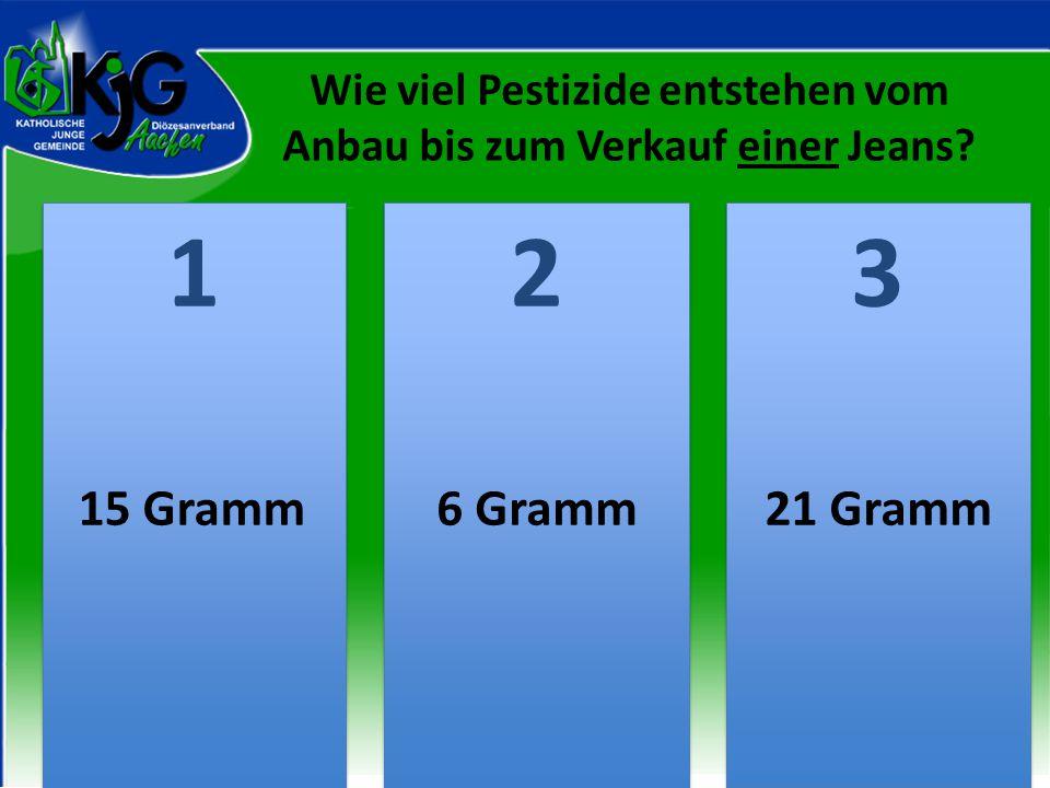 Wie viel Pestizide entstehen vom Anbau bis zum Verkauf einer Jeans
