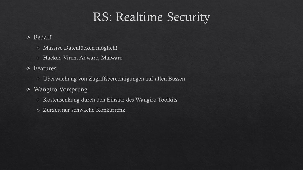 RS: Realtime Security Bedarf Features Wangiro-Vorsprung