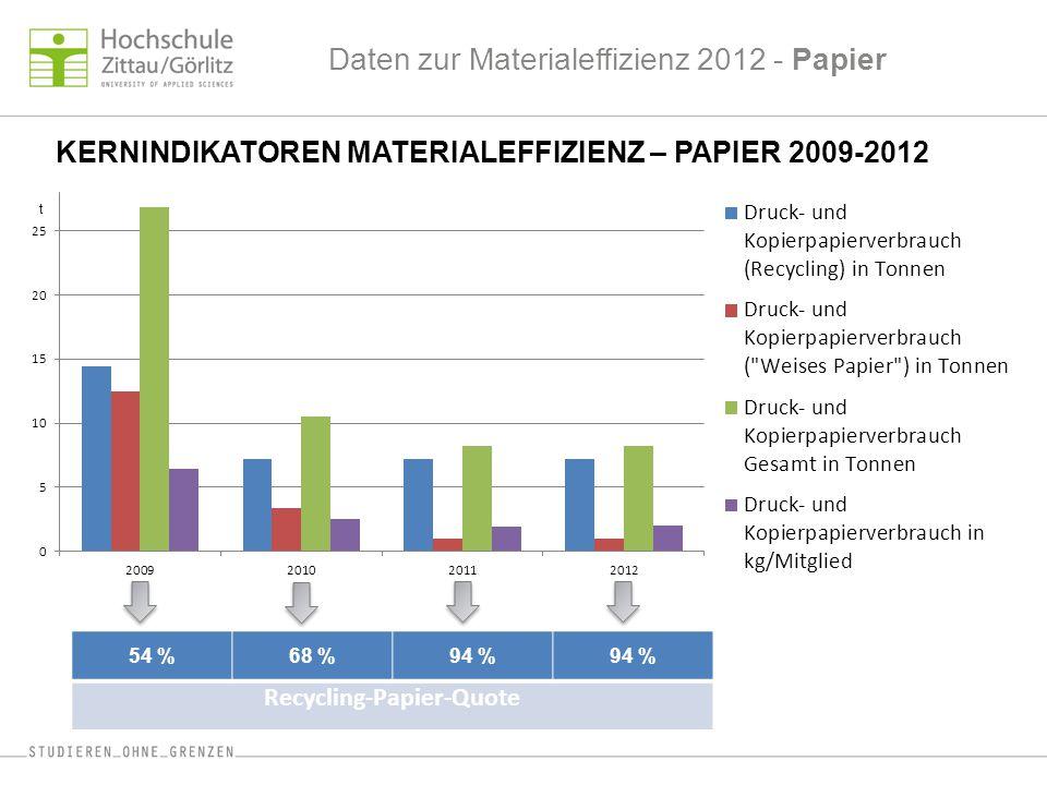 Daten zur Materialeffizienz 2012 - Papier