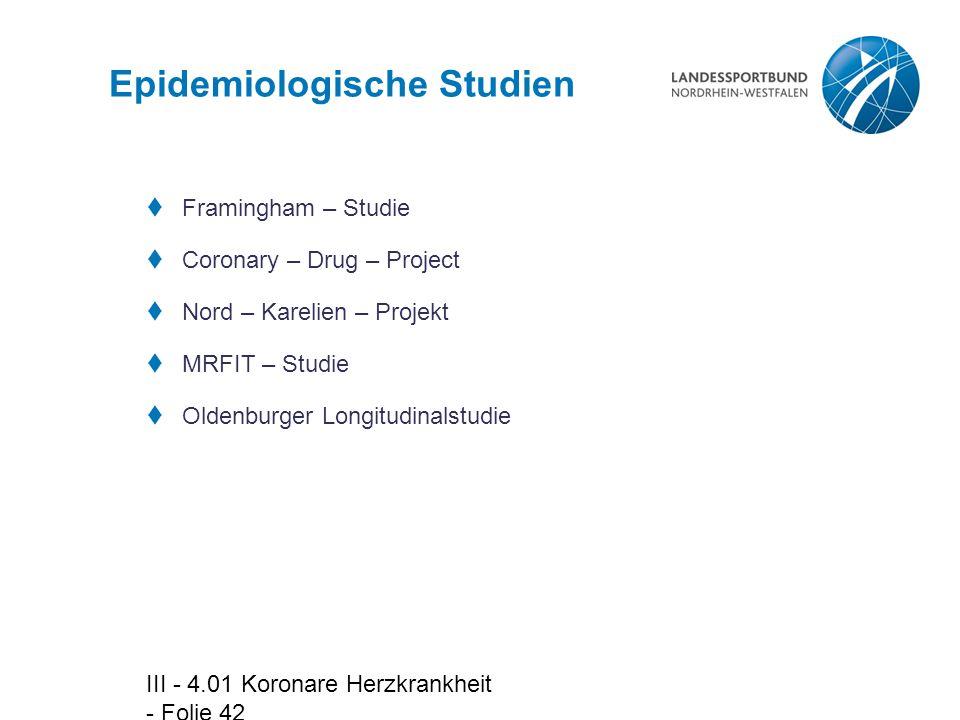Epidemiologische Studien
