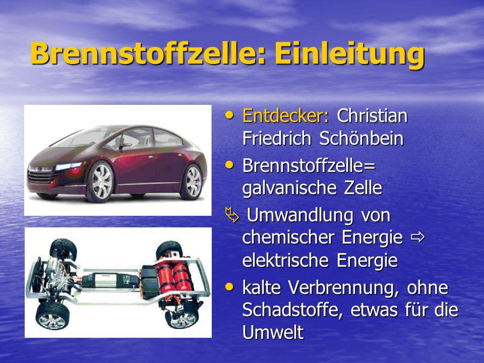 Brennstoffzelle: Einleitung