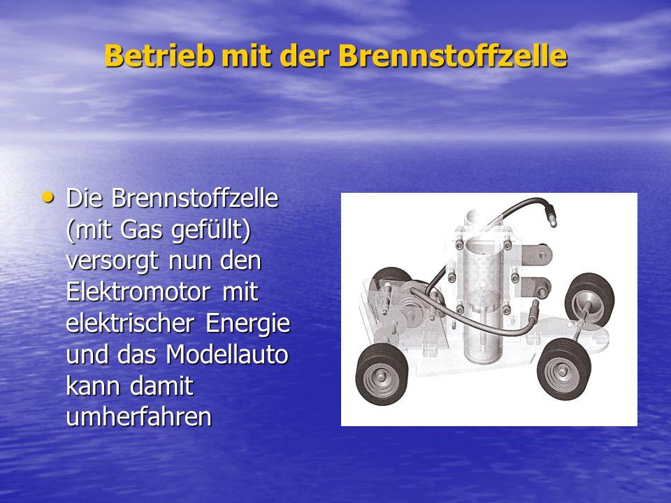 Betrieb mit der Brennstoffzelle