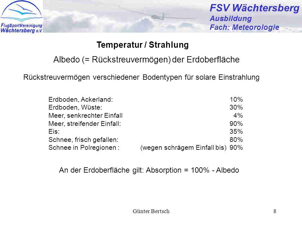 FSV Wächtersberg Temperatur / Strahlung
