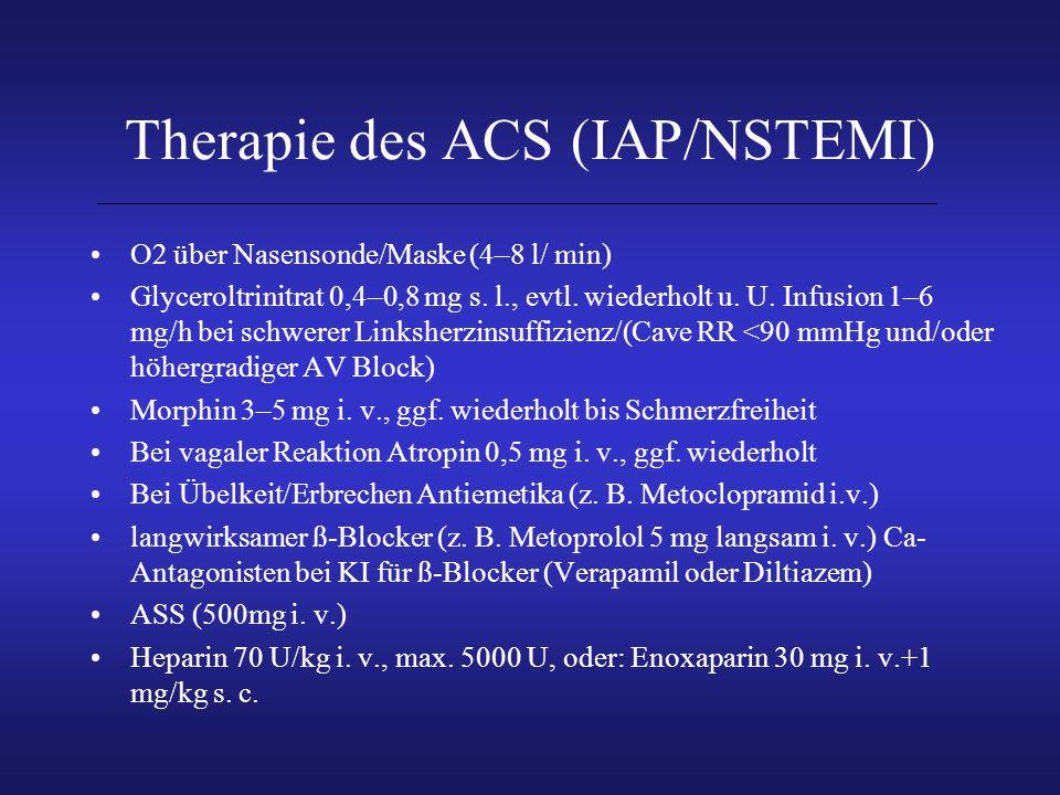 Therapie des ACS (IAP/NSTEMI)