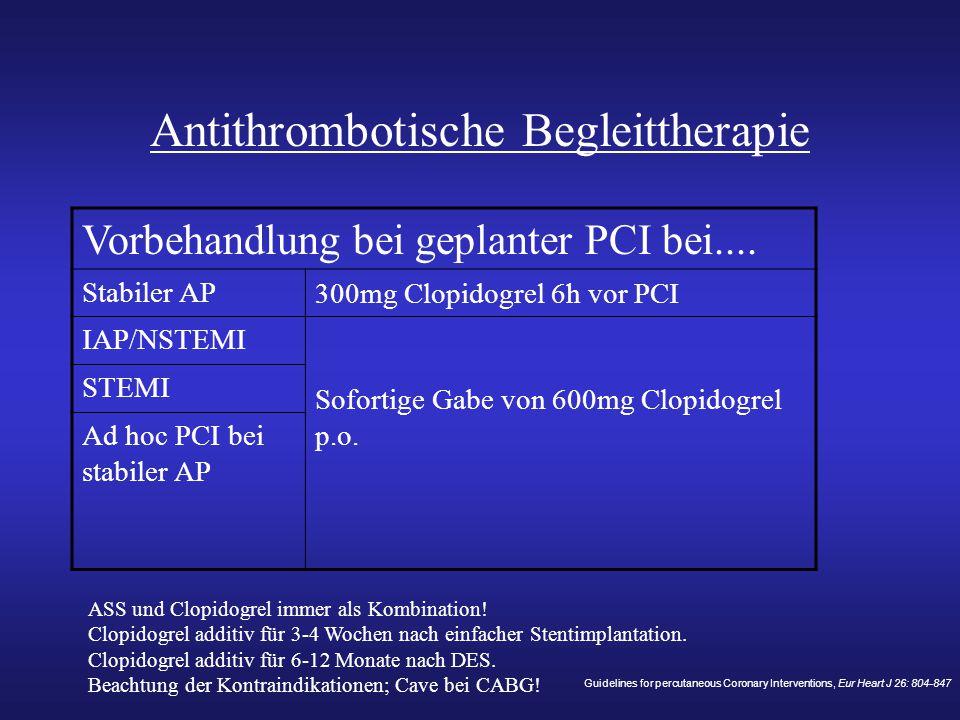 Antithrombotische Begleittherapie