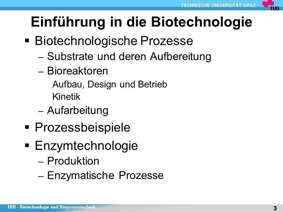Einführung in die Biotechnologie