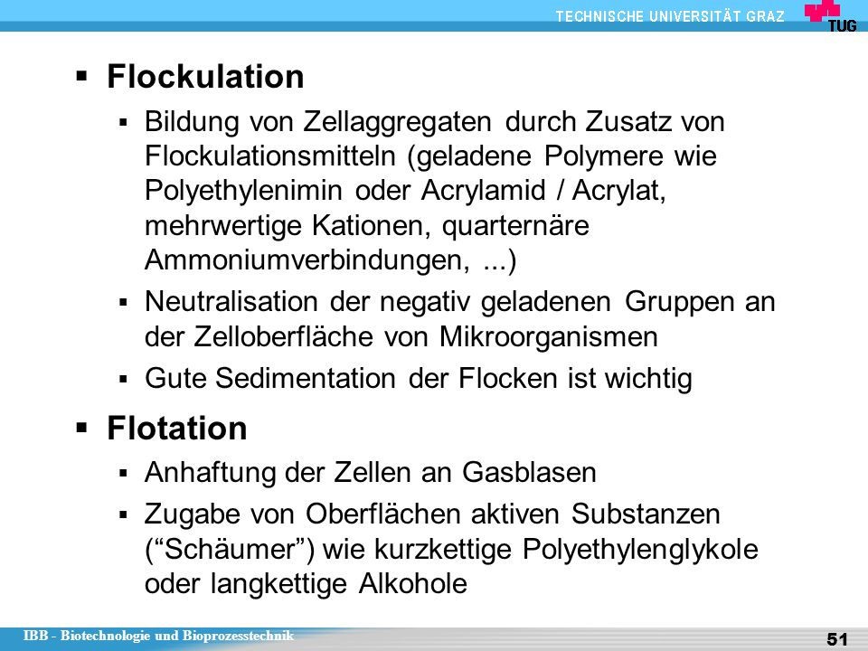 Flockulation Flotation