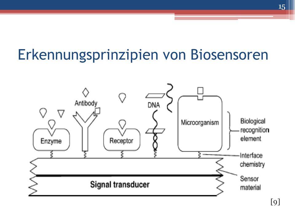 Erkennungsprinzipien von Biosensoren