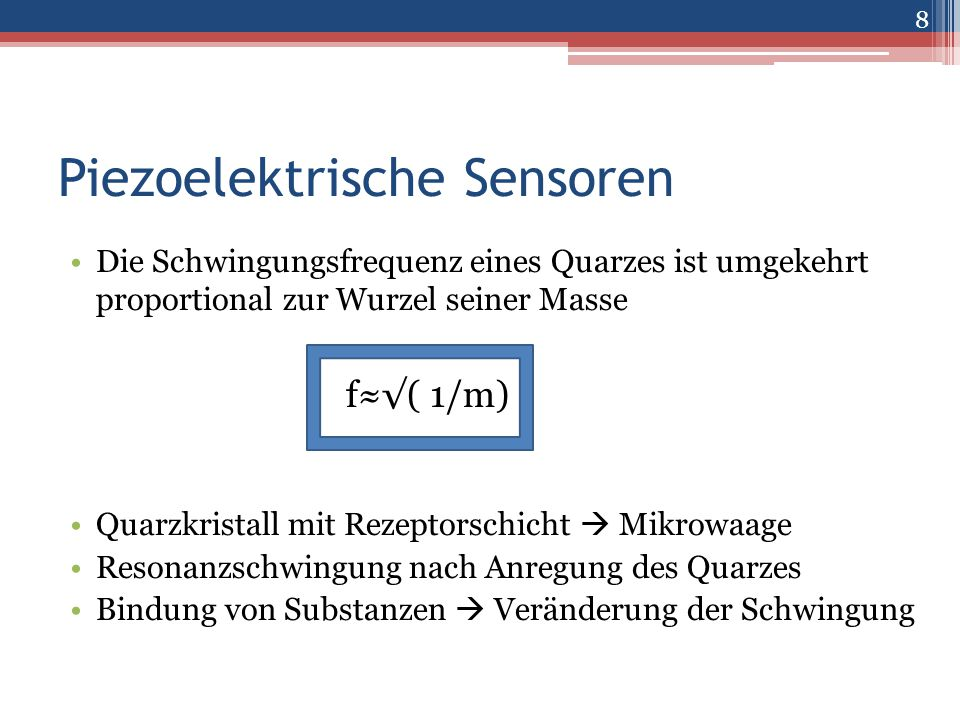 Piezoelektrische Sensoren