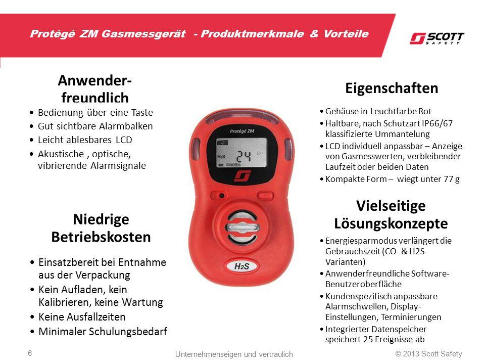Protégé ZM Gasmessgerät - Produktmerkmale & Vorteile