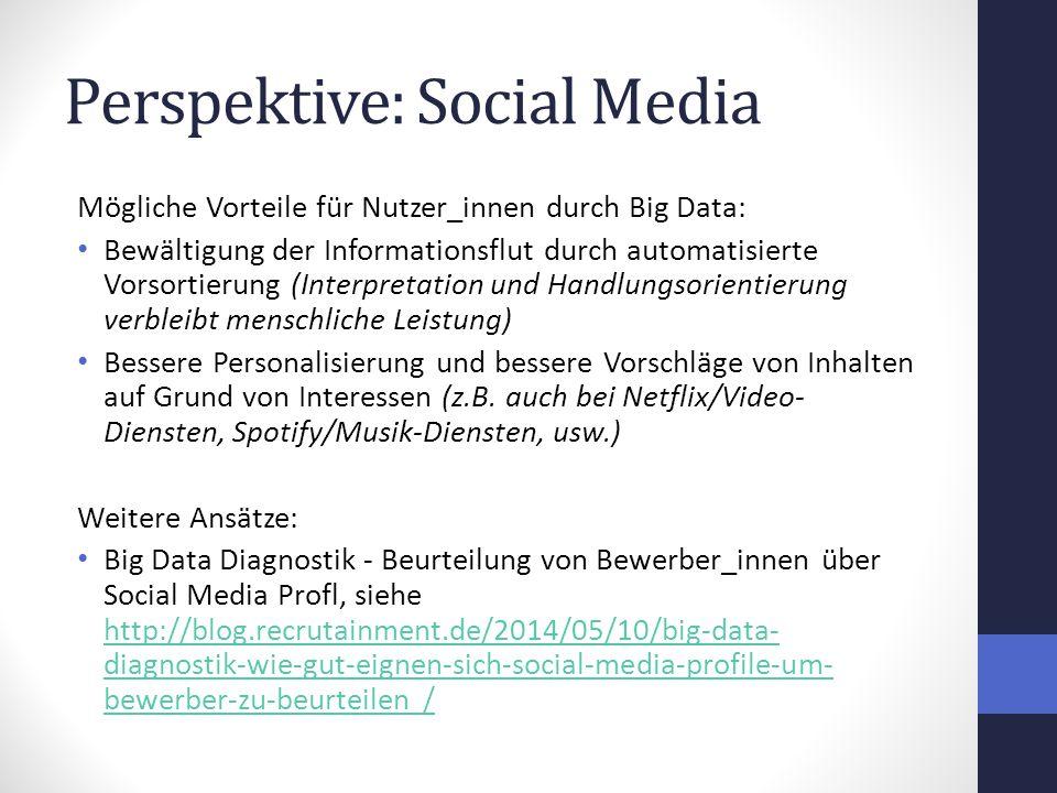 Perspektive: Social Media