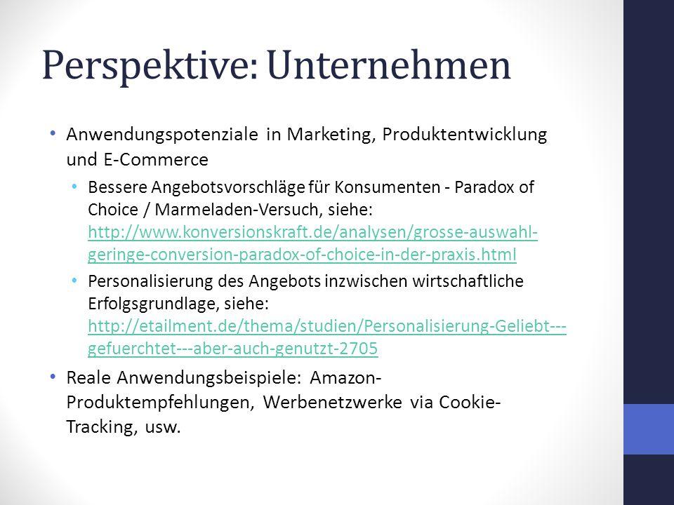 Perspektive: Unternehmen