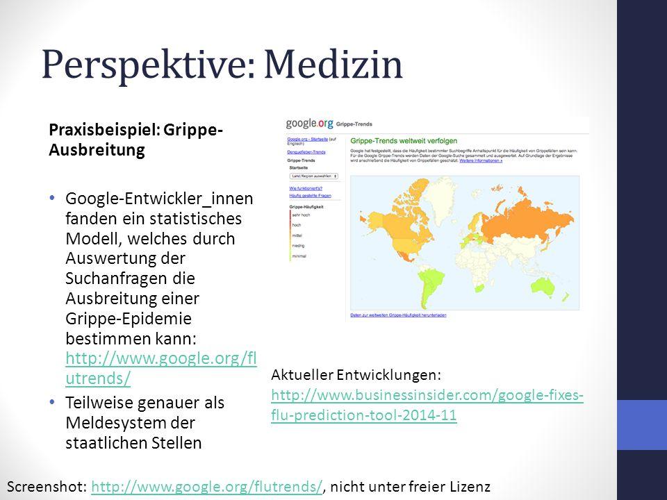 Perspektive: Medizin Praxisbeispiel: Grippe-Ausbreitung