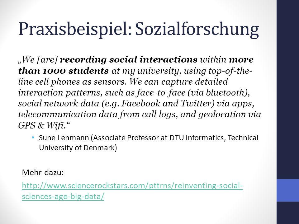 Praxisbeispiel: Sozialforschung