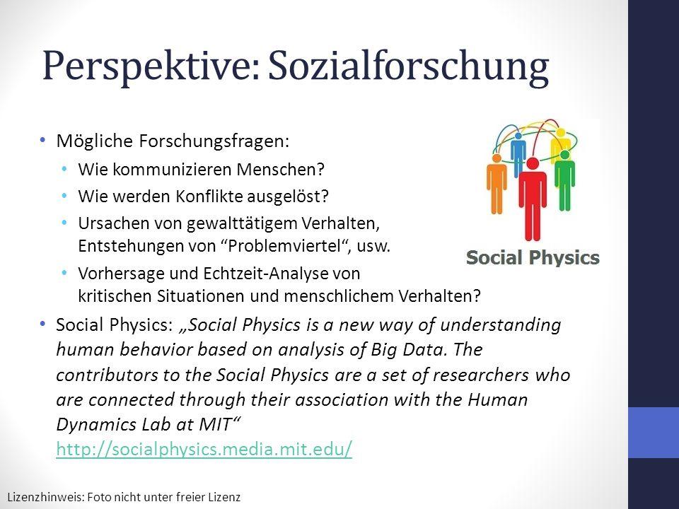 Perspektive: Sozialforschung
