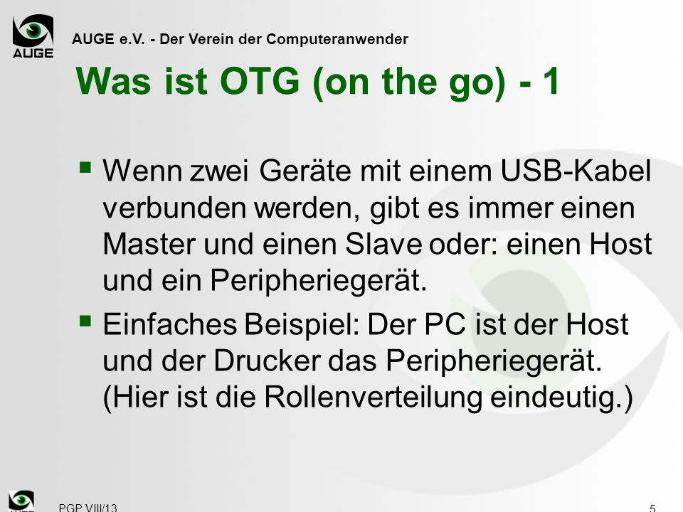 Was ist OTG (on the go) - 1