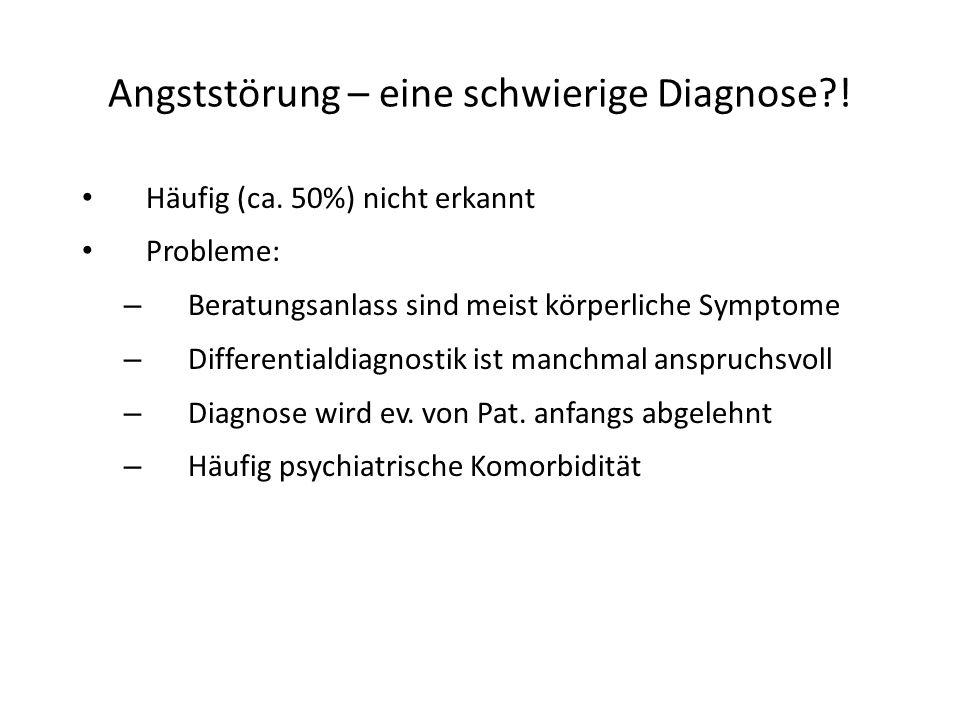 Angststörung – eine schwierige Diagnose !