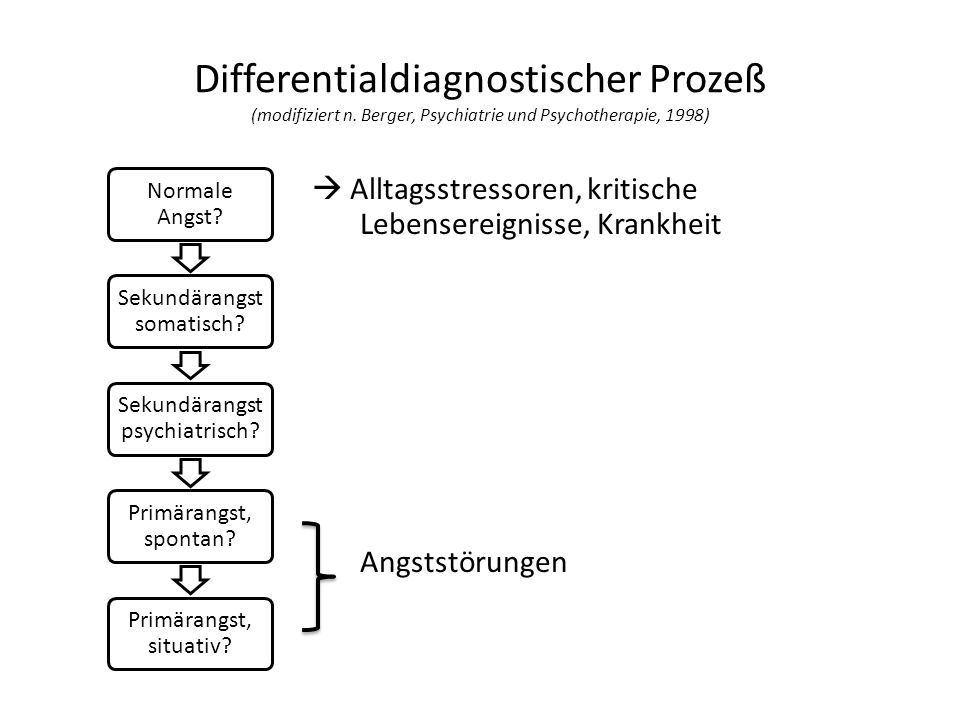 Differentialdiagnostischer Prozeß (modifiziert n
