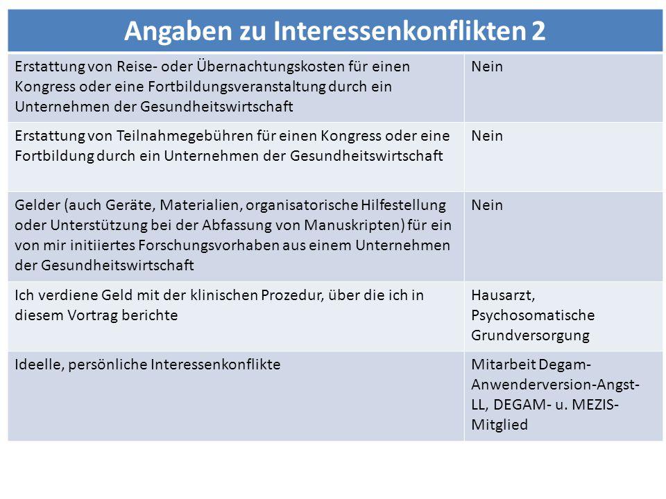 Angaben zu Interessenkonflikten 2