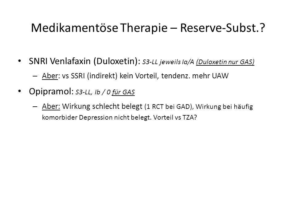 Medikamentöse Therapie – Reserve-Subst.