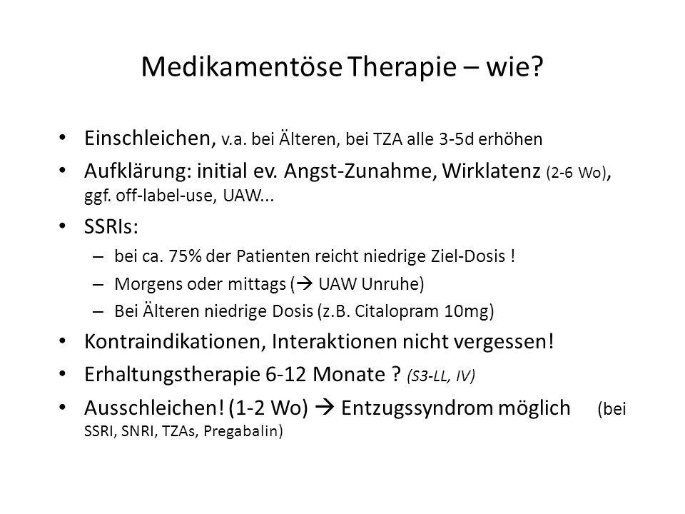 Medikamentöse Therapie – wie