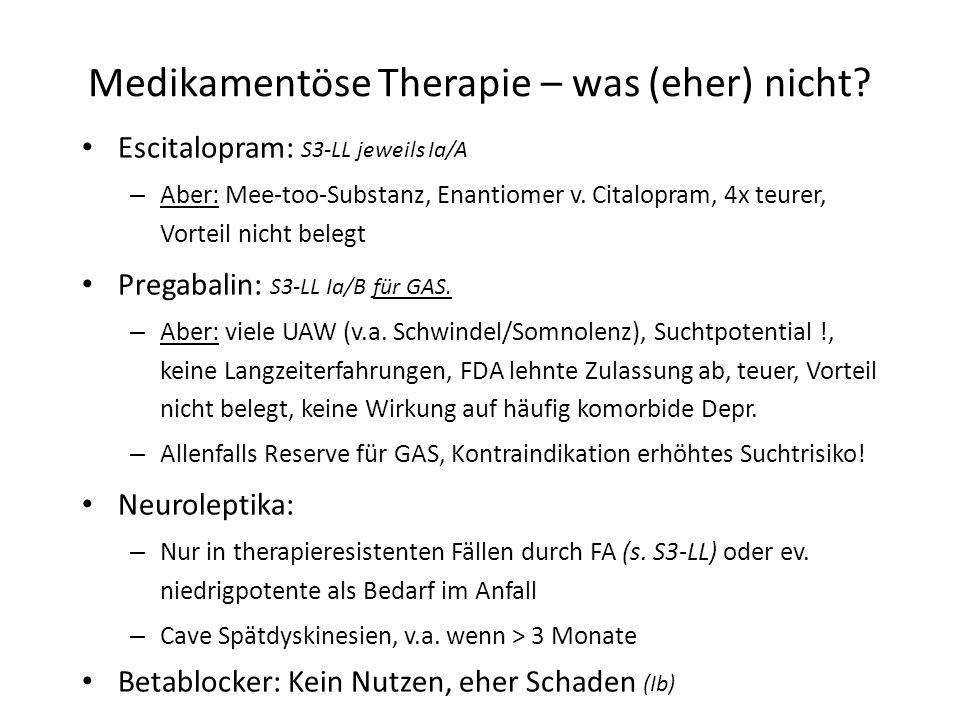 Medikamentöse Therapie – was (eher) nicht