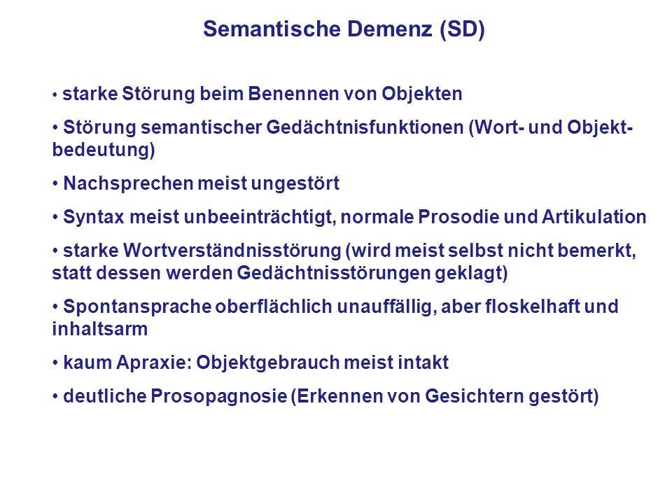 Semantische Demenz (SD)