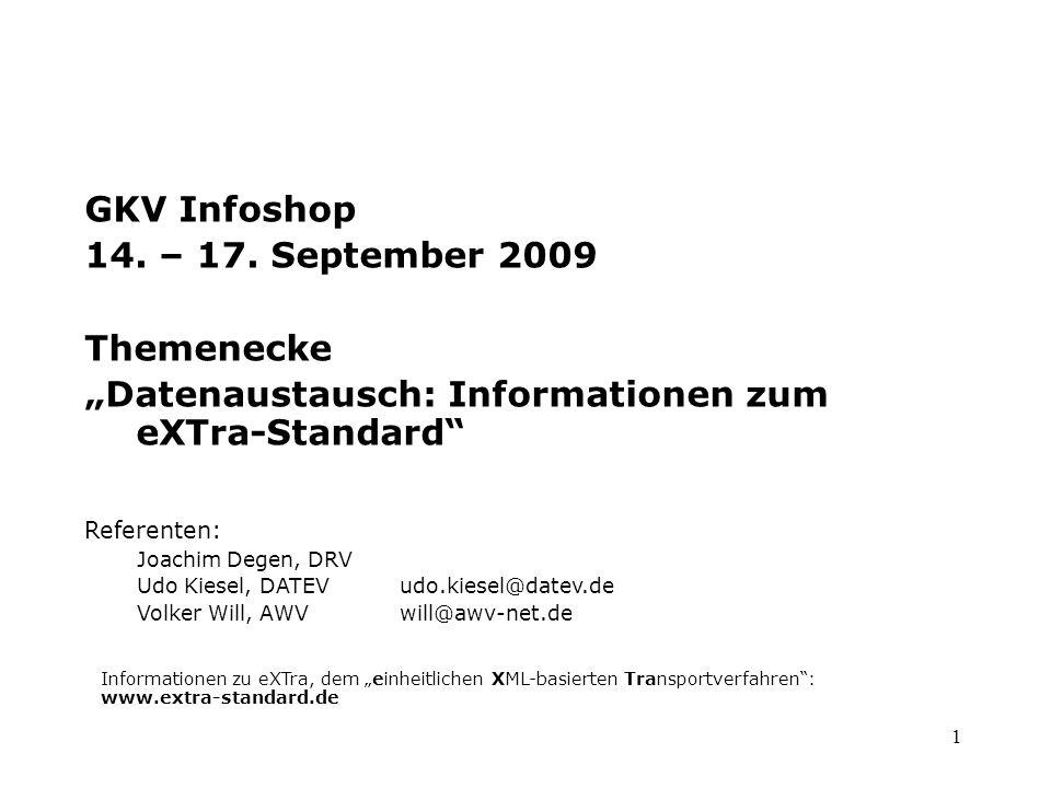 """""""Datenaustausch: Informationen zum eXTra-Standard"""