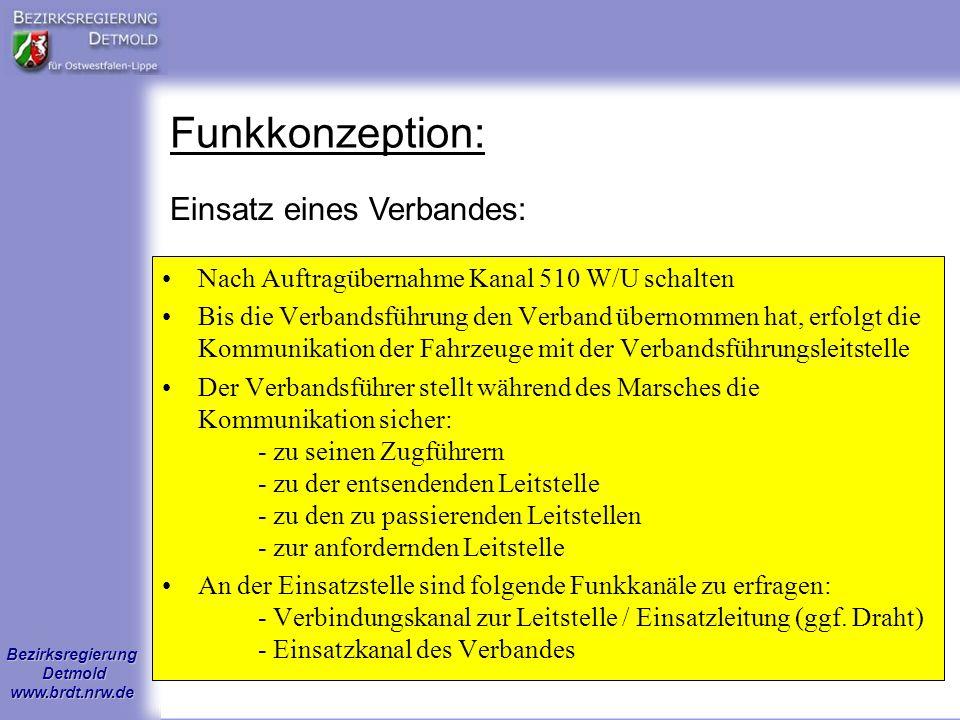 Funkkonzeption: Einsatz eines Verbandes: