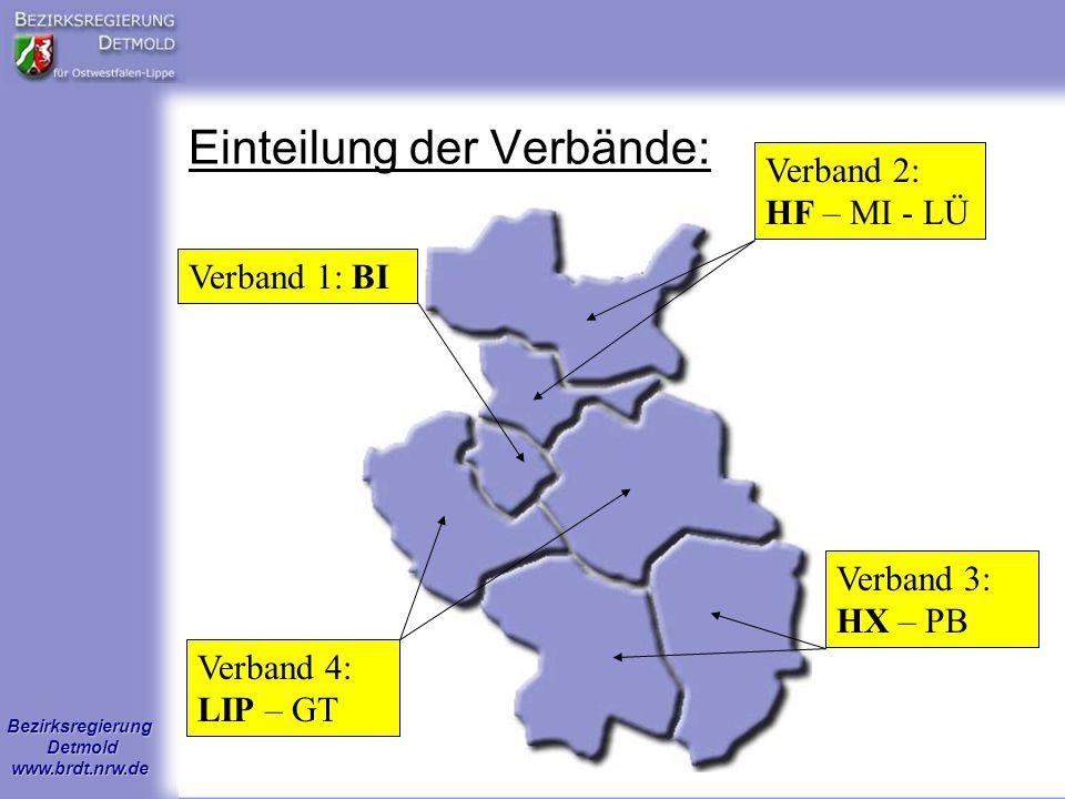 Einteilung der Verbände: