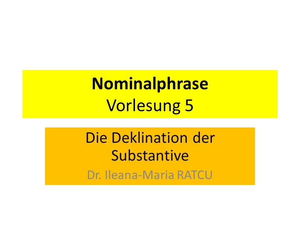 Nominalphrase Vorlesung 5