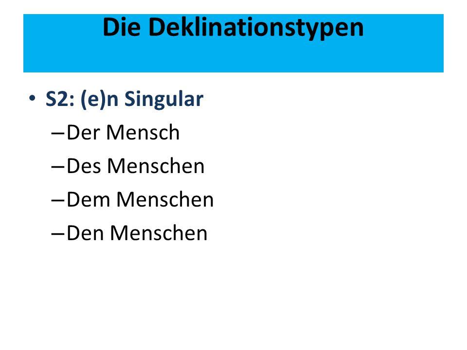 Die Deklinationstypen