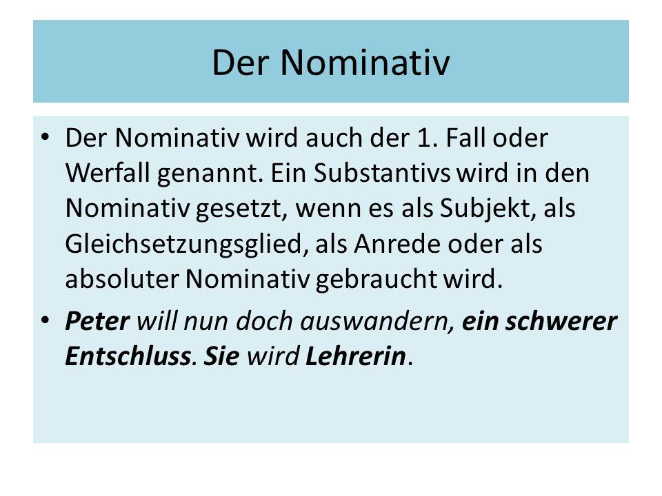 Der Nominativ