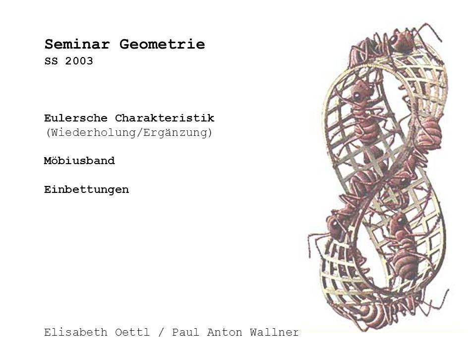 Seminar Geometrie SS 2003 Eulersche Charakteristik