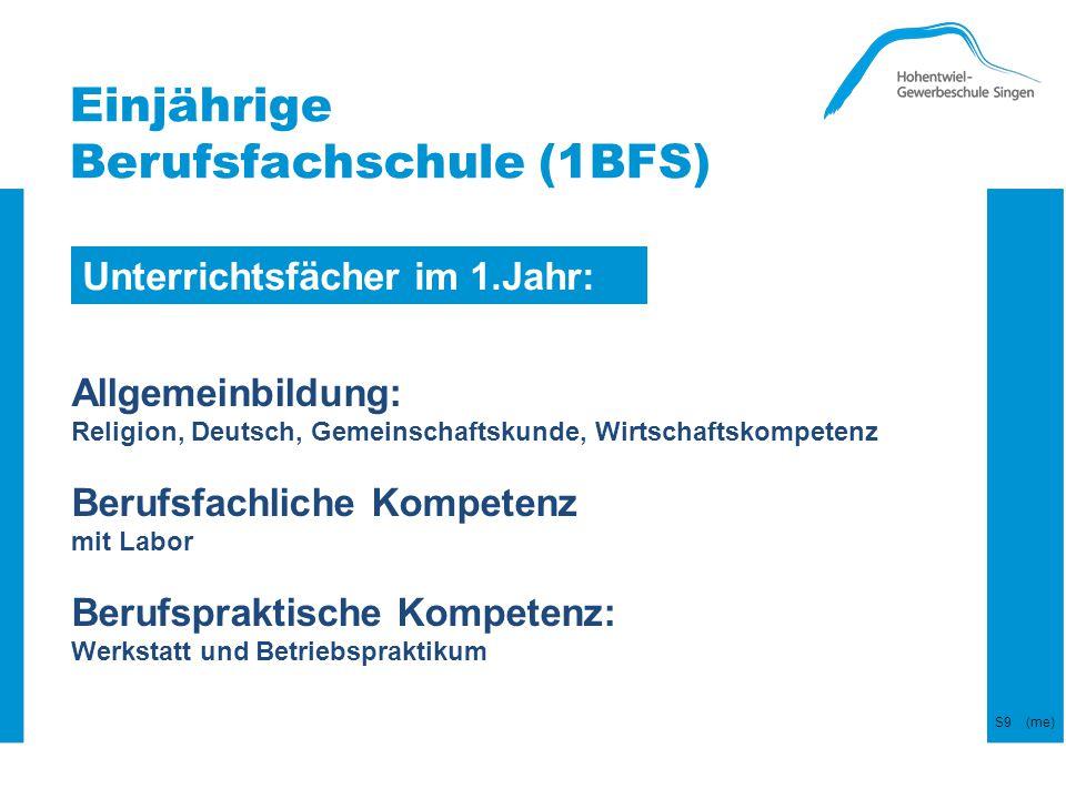 Einjährige Berufsfachschule (1BFS)