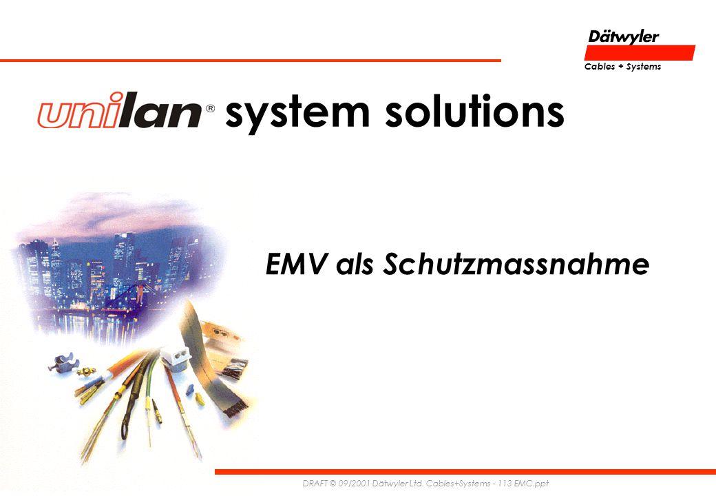system solutions EMV als Schutzmassnahme Cables + Systems