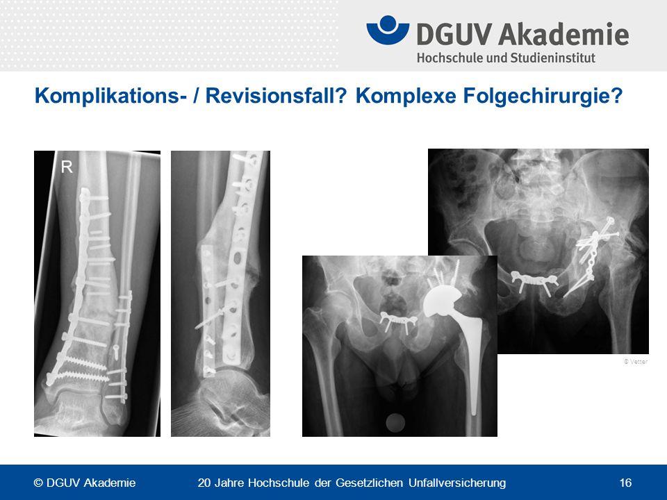 Komplikations- / Revisionsfall Komplexe Folgechirurgie
