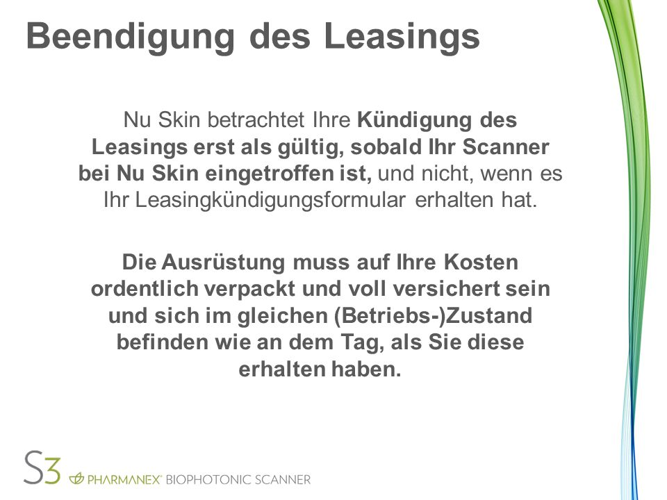 Beendigung des Leasings