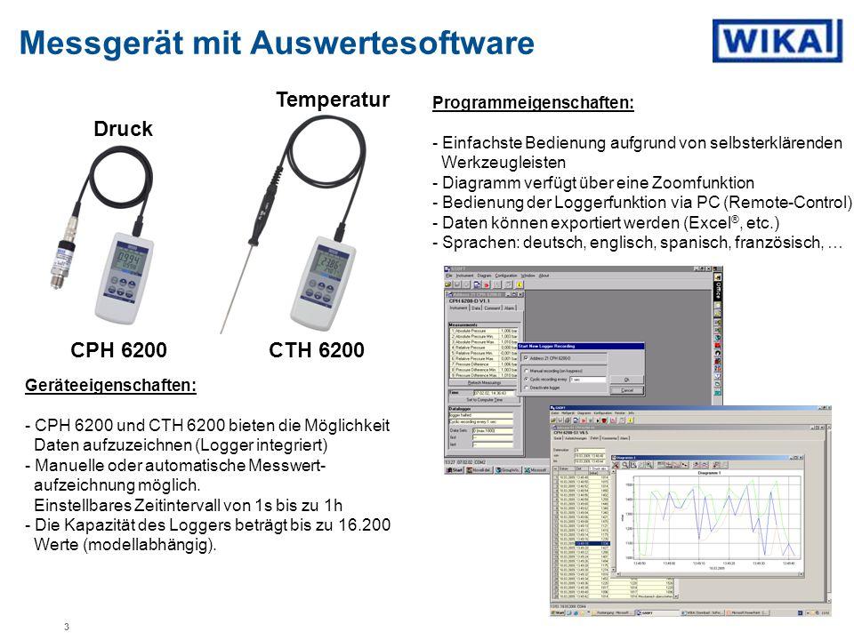 Messgerät mit Auswertesoftware