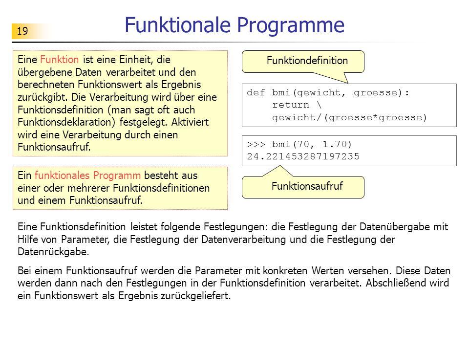 Funktionale Programme
