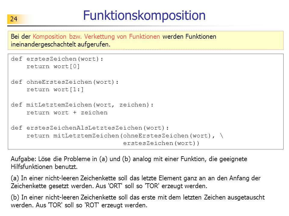 Funktionskomposition