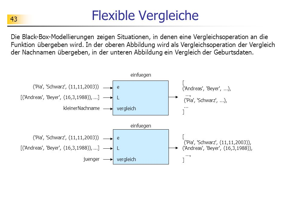 Flexible Vergleiche