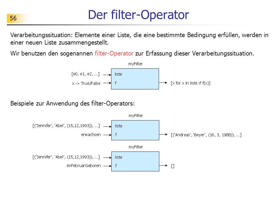 Der filter-Operator