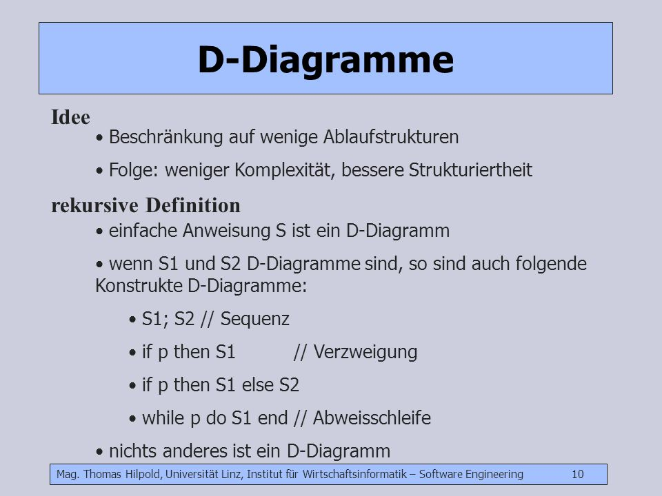 D-Diagramme Idee rekursive Definition