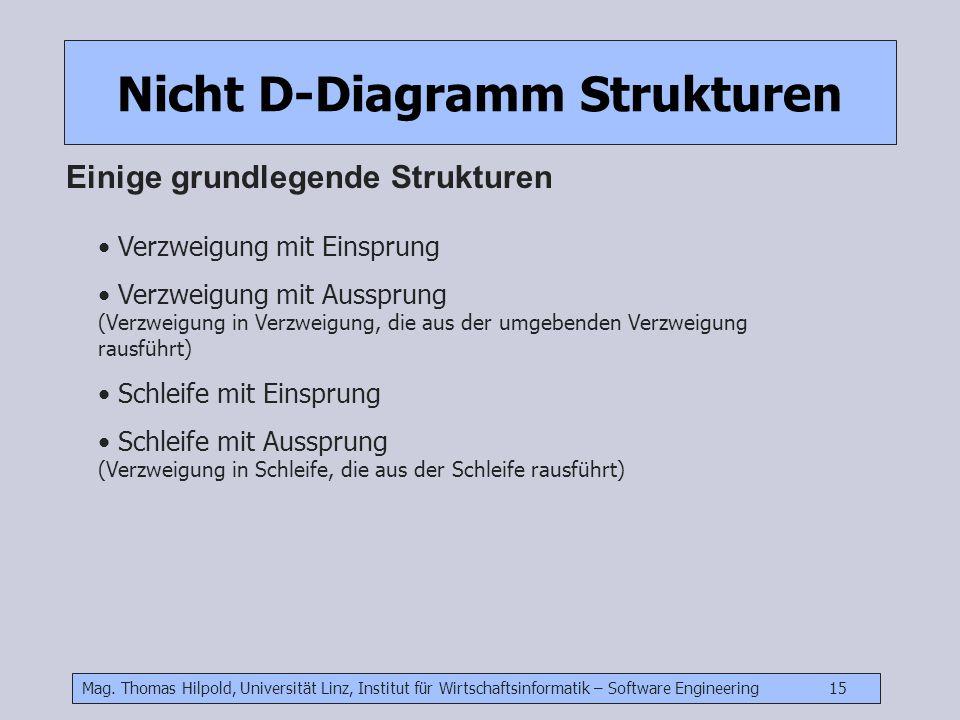 Nicht D-Diagramm Strukturen