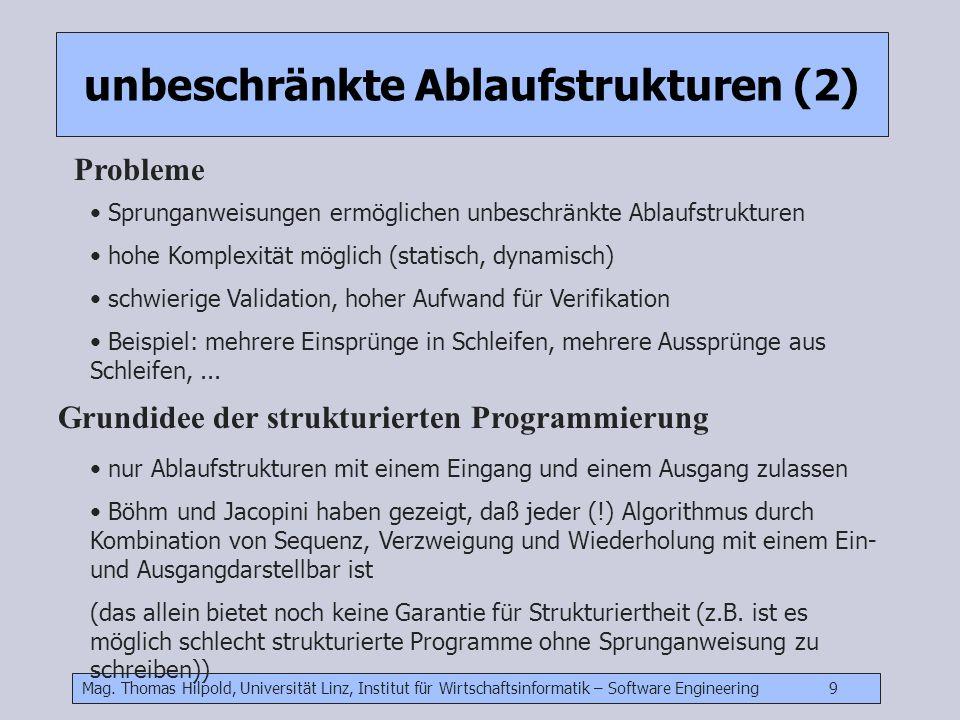 unbeschränkte Ablaufstrukturen (2)