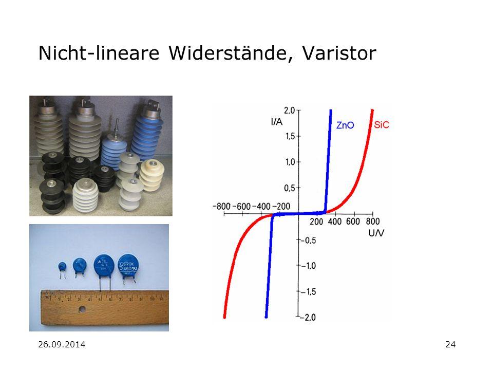 Nicht-lineare Widerstände, Varistor