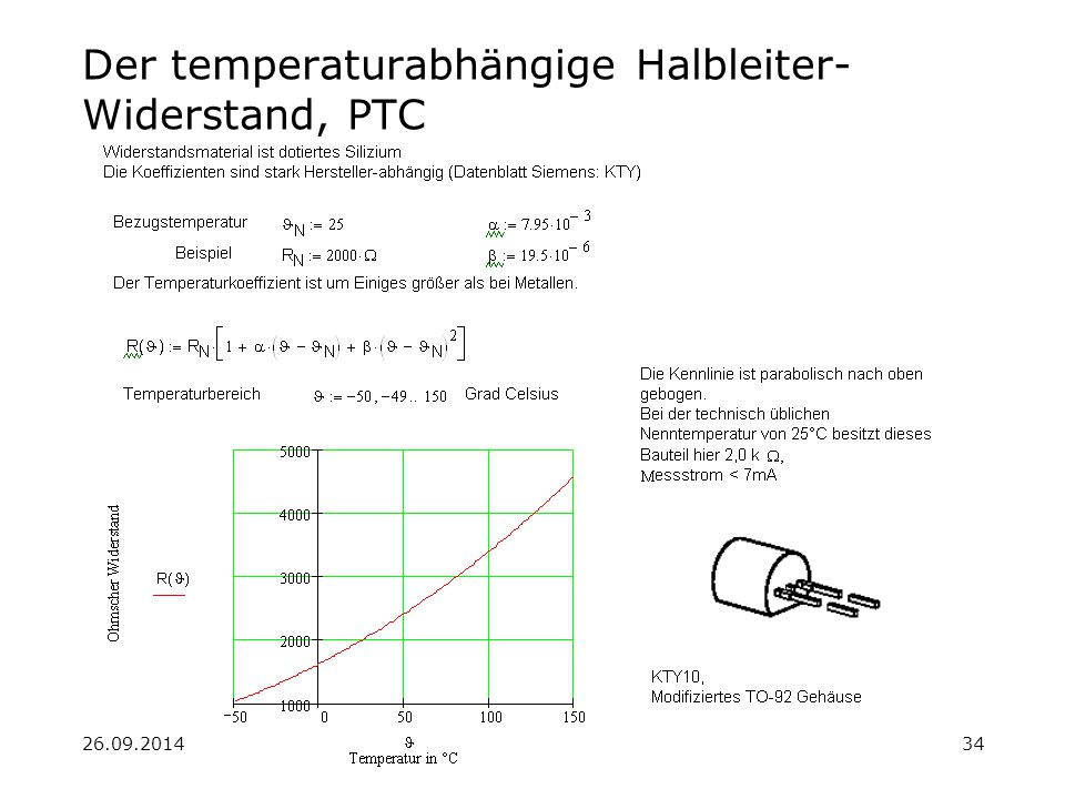 Der temperaturabhängige Halbleiter-Widerstand, PTC