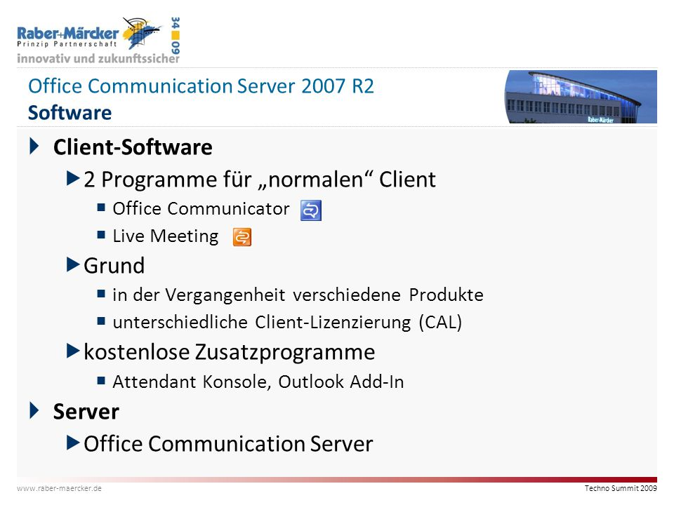 Office Communication Server 2007 R2 Software