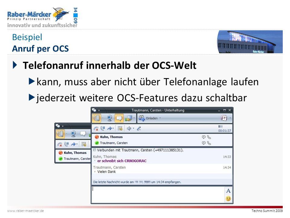 Telefonanruf innerhalb der OCS-Welt